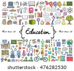 vector set with hand drawn... | Shutterstock .eps vector #476282530
