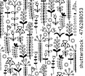 beautiful monochrome flowers... | Shutterstock .eps vector #476288053