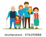 happy and smile family together.... | Shutterstock .eps vector #476290888