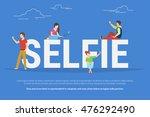 selfie concept illustration of... | Shutterstock .eps vector #476292490