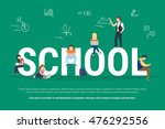 school concept illustration of... | Shutterstock .eps vector #476292556