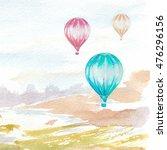 watercolor hand painted... | Shutterstock . vector #476296156