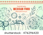 mexican food frame. mexican... | Shutterstock .eps vector #476296420