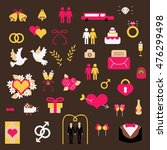 wedding gay vector set elements ... | Shutterstock .eps vector #476299498