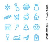christmas icons set. xmas and... | Shutterstock .eps vector #476305306
