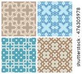 seamless geometric patterns set.... | Shutterstock .eps vector #476305978
