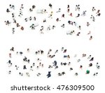 crowd of people blurred on... | Shutterstock . vector #476309500