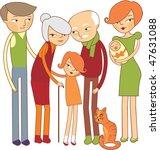 cartoon family portrait | Shutterstock .eps vector #47631088