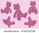 set with teddy bears in... | Shutterstock . vector #476313118