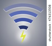 icon of wireless charging... | Shutterstock . vector #476313508