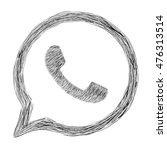 hand painted phone icon in a... | Shutterstock . vector #476313514