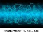 digital data background blue... | Shutterstock .eps vector #476313538