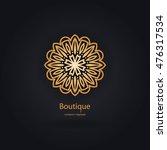 luxury logotype in the shape of ... | Shutterstock .eps vector #476317534