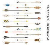 set of arrow types for archer ... | Shutterstock .eps vector #476321788