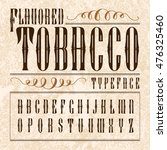 flavored tobacco label.... | Shutterstock .eps vector #476325460