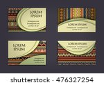business card or visiting card... | Shutterstock .eps vector #476327254