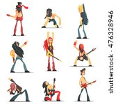 rock band members funny... | Shutterstock .eps vector #476328946