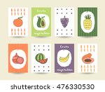 cute doodle cards  brochures... | Shutterstock .eps vector #476330530