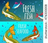 seafood restaurant. seafood...   Shutterstock .eps vector #476333008