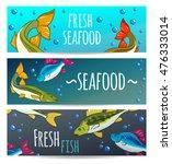 seafood restaurant. seafood...   Shutterstock .eps vector #476333014