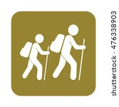 hiking icon illustration... | Shutterstock .eps vector #476338903