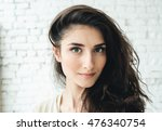 woman portrait natural beautiful | Shutterstock . vector #476340754
