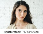 woman portrait natural beautiful | Shutterstock . vector #476340928