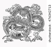 chinese dragon | Shutterstock .eps vector #476342713