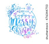 blue and pink winter typography ... | Shutterstock .eps vector #476344753