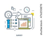 concept of survey. color line... | Shutterstock .eps vector #476353870