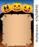 parchment with halloween... | Shutterstock .eps vector #476358940