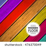 colorful wooden vector... | Shutterstock .eps vector #476370049