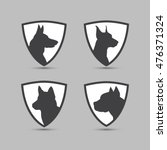guard dogs icons | Shutterstock .eps vector #476371324