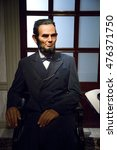 Small photo of NAKORNPRATHOM,THAILAND - AUGUST 12 : Wax Figures of Abraham Lincoln The President who abolish slavery in the USA at Thai Human Imagery Museum in Nakhonpathom Province, Thailand on August 12,2016.