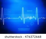 ecg electrocardiography ... | Shutterstock . vector #476372668