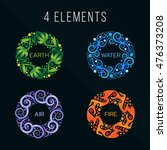 nature 4 elements circle... | Shutterstock .eps vector #476373208