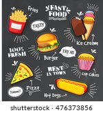 Set Of Different Fast Foods...
