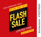 flash sale with upto 50  off... | Shutterstock .eps vector #476374063