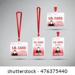 id lanyard card  | Shutterstock .eps vector #476375440