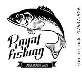 largemouth bass. fish vector... | Shutterstock .eps vector #476375926