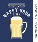 happy hour poster template... | Shutterstock .eps vector #476385904