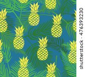 pineapple tropics   vector... | Shutterstock .eps vector #476393230