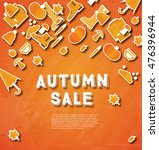 autumn sale banner with pumpkin ... | Shutterstock .eps vector #476396944