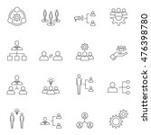 teamwork icon set outline... | Shutterstock .eps vector #476398780