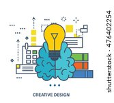 concept of creative design and... | Shutterstock .eps vector #476402254