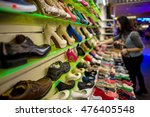 high heels in a shoe store   Shutterstock . vector #476405548