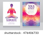 cards template for yoga retreat ... | Shutterstock .eps vector #476406733