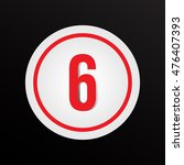 """red number """"6"""" in a circle.... 