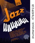 jazz festival poster template.... | Shutterstock .eps vector #476409118