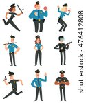 vector set of cartoon images of ... | Shutterstock .eps vector #476412808